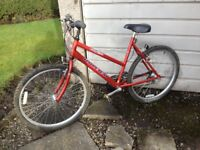 LADIES/GIRLS, RALEIGH MAX BIKE, IT IS IN VERY GOOD CONDITION, 18 inch frame,26 inch wheels, 15 gears
