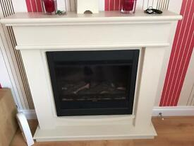 Wall mounted electric fire surround