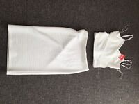 White co ord outfit two piece skirt and top brand new
