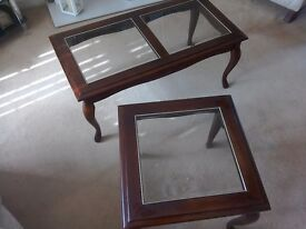 Two matching living room tables