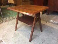 Retro Teak 'A Frame' Rectangular Coffee Table with under shelf