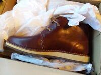 Sperry Umber Leather Chukka Boot - burgundy - UK size 9; Europe 43