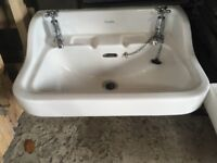 Two old 'shanks' sinks with original taps for sale