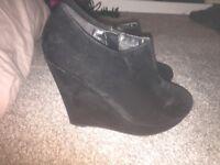 Women's high wedge heel