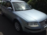 03 VOLKSWAGEN PASSAT 2 LITRE PETROL ESTATE CAR MOT;D TILL 21/09/17 ALLOY WHEELS ROOF BARS FAMILY CAR