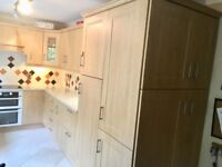 Laminated Shaker style pale oak kitchen