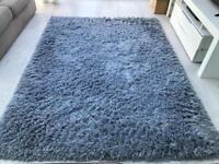 Next Light blue soft shimmer rug