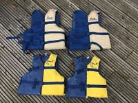 set of family watersport/boating/dinghy buoyancy aids
