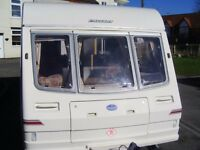 bailey pageant 2 berth 1997 + brand new motor mover +awning