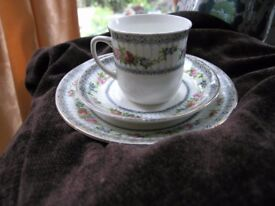 China Trio Display Piece. Cup Saucer Plate Weymouth