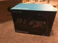 Logitech G29 steering wheel, pedals & shifter (PS3,PS4,PC)