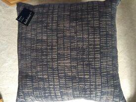 "Habitat ""Bates""Grey Flocked Cushions (x2)"