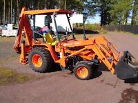 kubota digger loader and back actor VERY LOW HOURS