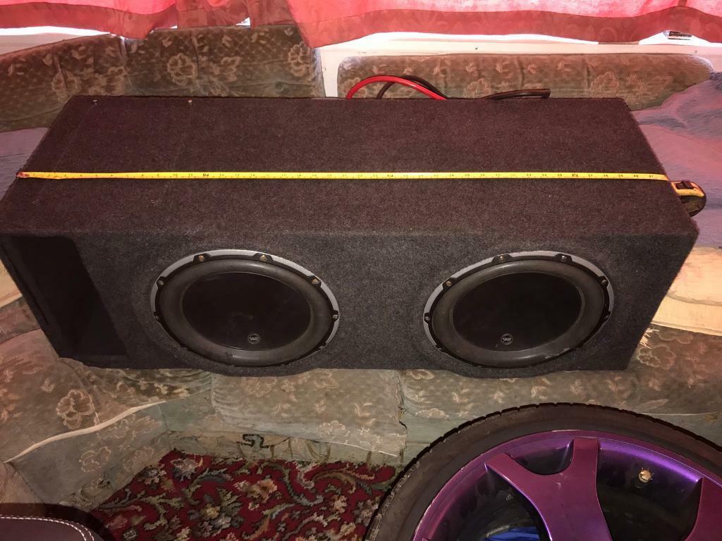 Twin JL audio 12w6v2 subs subwoofer ported resin lined enclosure