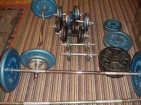 222kg weights&bench