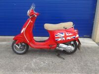 STUNNING 2007 VESPA LX125 SCOOTER 125CC AUTOMATIC VERY LOW MILES FULL SERVICE HISTORY