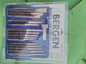 Bergen 16pc Punch and Chisel set, Metal Punch, Punch Chisel