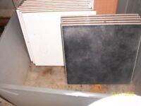 15 ceramic white /black tiles -ng6 area
