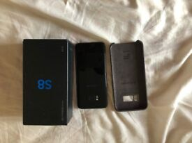Samsung S8 64GB Sim free with box & all accesories - MidNight Black - Perfect Condition - £310