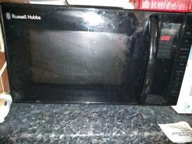 Russell Hobbs black microwave oven