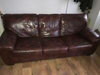 3 Seater Leather Sofa Bed DFS