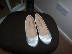 Brand new Silver ballet pumps/shoes