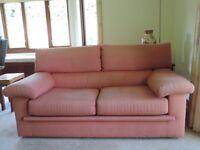 Ligne Roset 2 seater sofas. Classic design in terre cuite fabric.