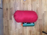 Red Polyester Sleeping Bag, Lightly Used