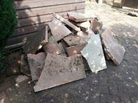 Broken paving slabs, rubble, hard-core, in-fill