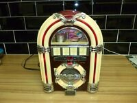 Classic collectors edition cd/radio jukebox with lights as new