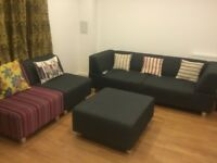 Modern 3 seater and 2 seater lounge sofa set (bought from DFS)