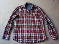 Fatface shirt, red check, size large