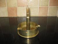 "World War II ""trench art"" brass ashtray"