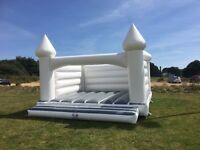 Adult White Bouncy Castle Hire! Free Dates Available This Year! Amazing Photoshoot on your Wedding