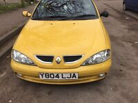 2001 Renault Megane Privilege+ Ide Cbr 2L Convertible Petrol Yellow BREAKING FOR SPARES