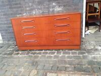 Vintage G Plan Fresco double chest of drawers teak mid century retro