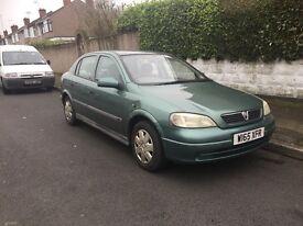 Vauxhall Astra, long mot and taxed,