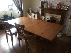 6-8 seater table