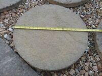 Garden stepping stones round