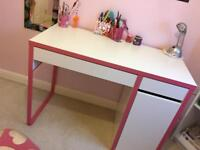 White/Pink study table