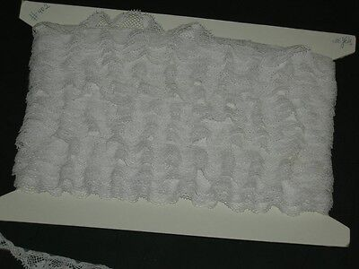 Frilly Trim (36 yard lot White trimming fabric lightly frilly lace trim 36 yards x 3/4 inch )