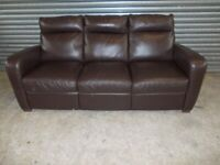 Italsofa Brown Leather 3+2-seater Suite (Sofa)
