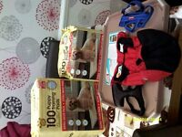 Puppy pads/ puppy pad tray /harnesses and coat.