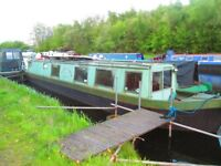 narrowboat 50ft 1989 hull .river boat. canal boat.liveaboard .project boat
