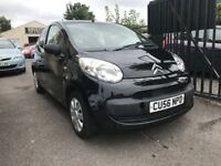 Citroen C1 Black 1 Litre Petrol Manual 3 Door Hatchback 2006 Fantastic Car Cheap Road Tax