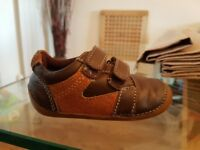 Brown & tan leather m&s soft sole shoes