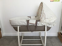 Schnuggle Moses basket and rocking stand