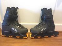 Aggressive Inline skates plus safety kit. EXCELLENT condition, barely used.
