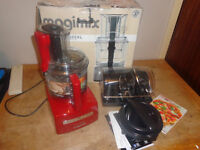 Magimix 5200XL red. brand new unused but has a scuff mark from plug and tatty box