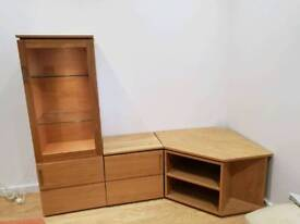 Display cabinet with TV stand